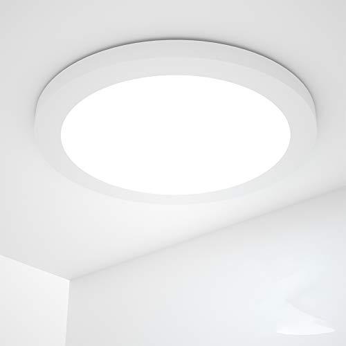 Preisvergleich Produktbild 18W Deckenlampe,  Wasserfest Badlampe 4000K LED Deckenleuchte 1440LM Lampen ideal für Badezimmer Balkon Flur Küche Wohnzimmer weiß Badezimmerlampe (rund)