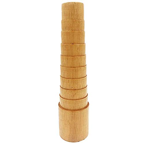 ZJL220 Herramienta de joyería de madera de paso pulsera mandril medidor de tamaño de pulsera brazalete mandril alambre envoltura herramientas de joyería
