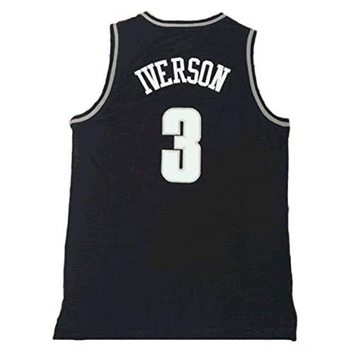 LDFN Jersey Baloncesto Universidad De Georgetown Allen Iverson # 3 del Baloncesto...