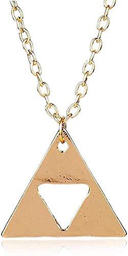 Collar Mujer Collar Hombre Collar Collar Metal Triángulo Colgante Collares Joyería Cadena de eslabones largos Charm Collier Regalo Niñas Niños Collar