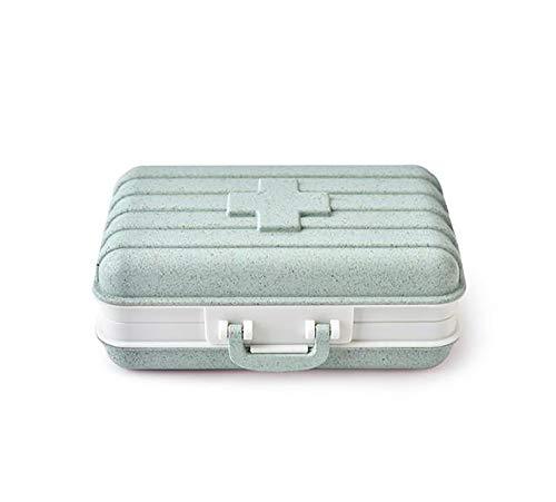 Tragbare Pillendose Abbaubar Aufbewahrungsbox Kleine Pillendose Pillbox reisen Tragen Sie mit Ihnen Wasserdichte Aufbewahrungstasche für Medikamente Vitamin Rack Feuchtigkeitsbeständige Pillendose