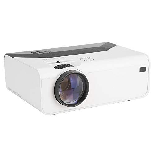 Heayzoki Mini proyector, Proyector LCD portátil, Proyector de Alta definición para Entretenimiento en la Oficina, Proyector de películas con Brillo LED 1800LM, Soporte para Sistema Android(EU 720P)