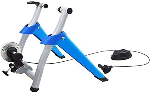 Plataforma de entrenamiento de bicicleta, bicicleta de carretera plegable bicicleta de montaña plataforma de entrenamiento de fitness interior, adecuado para bicicletas de 26 a 27.5 pulgadas, 700C