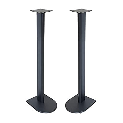 Fisual Dynami Uno Speaker Stands (Pair) (900mm, Matt Black) from Fisual