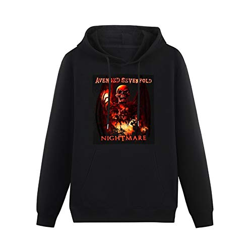 WERTY Sweatshirt Teenager Teenager Long Sleeve Sweatshirts Avenged Sevenfold Inner Rage Sweatshirt Pullover Cotton Blend Hoody Long Sleeve Sweatshirts Black L