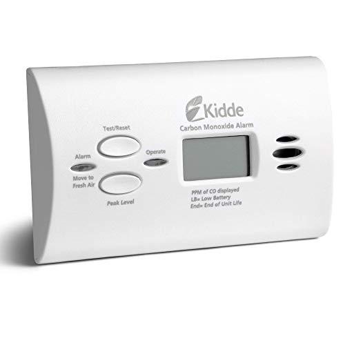 White, Carbon Monoxide Alarm Detector, Digital Display,...