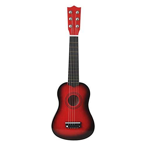 SISHUINIANHUA Mini Guitarra acústica de 21 Pulgadas Ukulele Guitarra clásica Musical Instrumental Instructor de Madera Principiante Música Amantes Niños Regalo,6