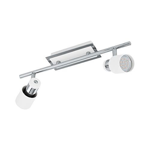 Preisvergleich Produktbild EGLO Spotleuchte,  Stahl,  GU10,  Chrom-weiß,  39 x 7 x 16 cm