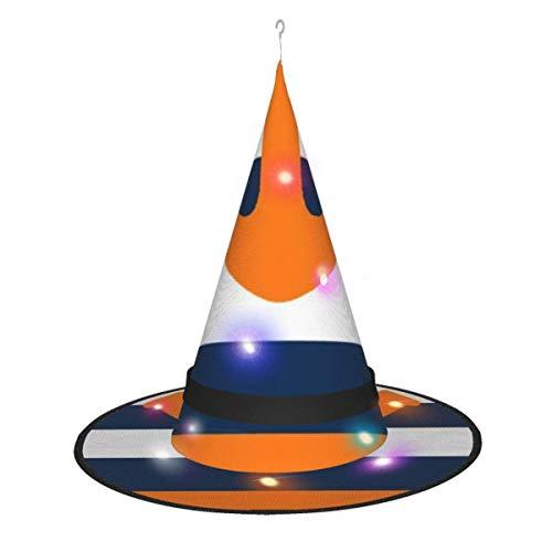 rouxf Qq ???? ?Sombreros de Bruja Que Brillan intensamente iluminados para Colgar Accesorio de Disfraz de Halloween para Fiesta de Halloween Masquera