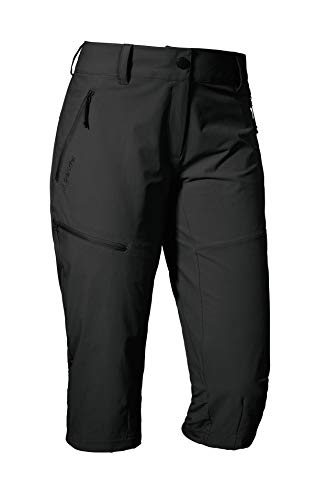 Schöffel Pants Caracas2, leichte und kühlende Wanderhose aus elastischem Stoff, vielseitige Outdoor Hose mit optimaler Passform und praktischen Taschen Damen, asphalt, 42