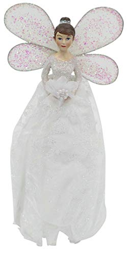 Christmas Tree Topper Fairy Angel Decoration Treetop Ornaments White Gown