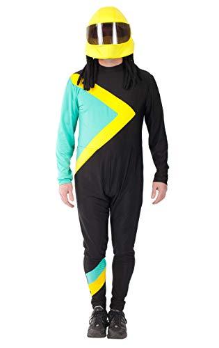 ORION COSTUMES Costume de déguisement avec la combinaison du drapeau de l'équipe de bobsleigh jamaïcaine pour hommes