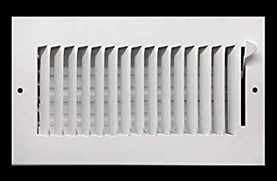 """16"""" X 8"""" 1-Way AIR Supply Grille - Vent Cover & Diffuser - Flat Stamped Face - White [Outer Dimensions: 17.75""""w X 9.75""""h]"""