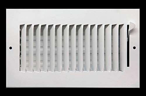 16 X 8 1 Way AIR Supply Grille Vent Cover Diffuser Flat Stamped Face White Outer Dimensions product image