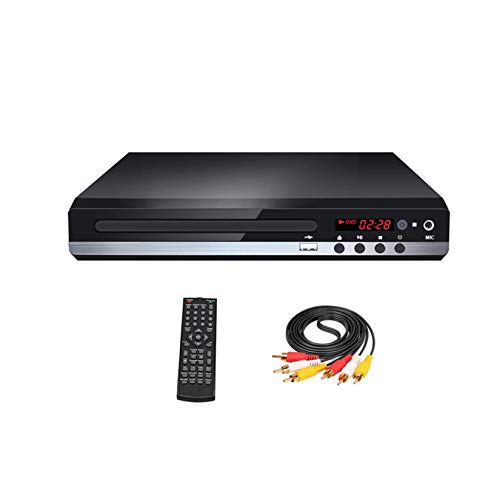 WZPG Reproductor De DVD De Escritorio, Mini Reproductor De DVD para TV Inteligente, Reproductores De DVD para TV con HDMI, Soporte DVD/SVCD/CD/VCD Y Otros Formatos De Disco,A