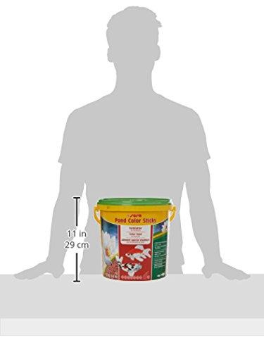 sera 07159 pond color sticks 10 l – das Farbfutter für Teichfische mit 4 % Krill - 7