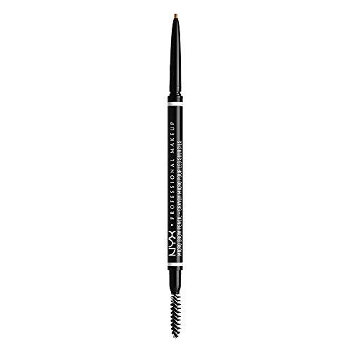 NYX Professional Makeup Crayon à Sourcils Ultra-Fin Double-Embout avec Mine Rétractable et Goupillon, Teinte : Blonde