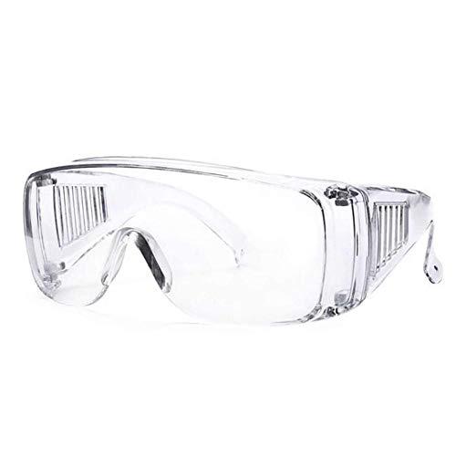 jinclonder Gafas de ventilación Transparentes, protección para los Ojos, Laboratorio Protector, Gafas antivaho, Antipolvo, Recubrimiento antivaho, Marco Transparente antibacterias de Alta definición