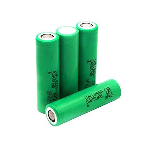 LOT DE 4 ACCUS SAMSUNG 25R IMR 18650 2500 MAH - Sans nicotine ni tabac