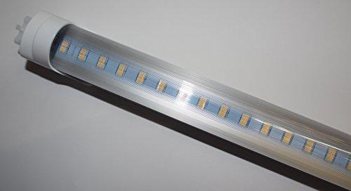 LED Leuchtröhre [kein Starter nötig!] T8 Länge 43,5 cm (435mm) Leistung 7W Lumen 900 lm Lichtfarbe 4500K Farbreinheit CRI >80 Durchmesser 26mm Sockel G13 -prisma