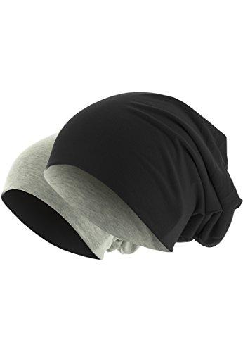 MASTERDIS bonnet réversible en jersey (noir/anthracite)