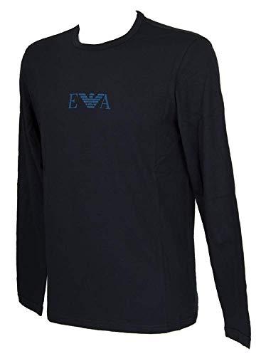 Emporio Armani Underwear Herren T Shirt Multipack Monogram Freizeithemd, Blau (Marine 00135), X-Large (Herstellergröße:XL)