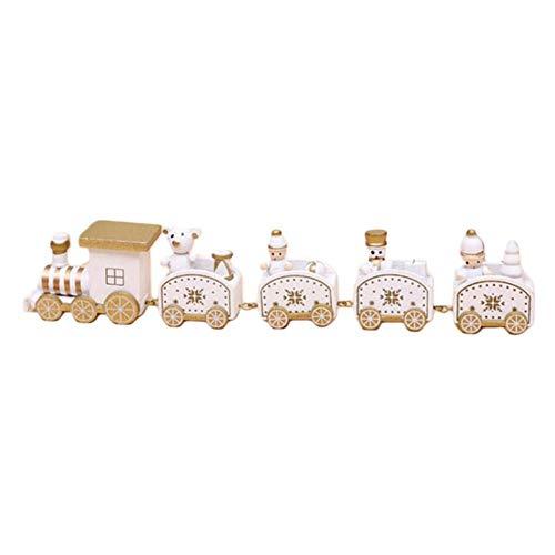Weihnachtsdekoration Zug Fünf Abschnitt Kleinen Zug Cartoon Holzfenster Schreibtisch Requisiten Geschenk Kinder Geschenk Spielzeug Für Weihnachtsfeier Kindergarten Dekoration