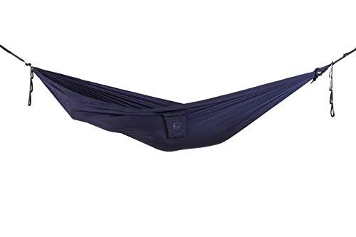Ticket to the Moon Hamaca Ultraliviana - Comercio Justo y Hecho a Mano para Viajes, Camping y Uso Cotidiano [Azul Marino]