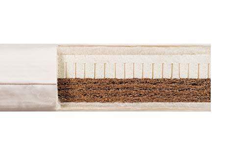 bionik Bioduo Bio-Kindermatratze Matratze für Kinderbett mit Kern aus latexierter Kokosfaser und Naturlatex 140 x 200 x 12 cm