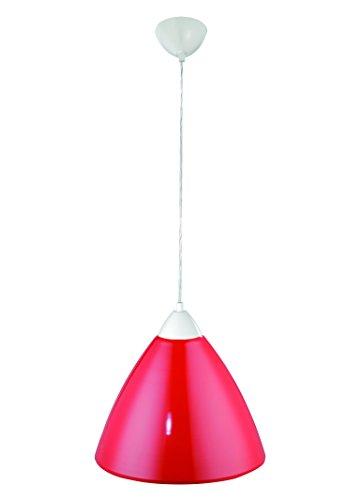 Pendelleuchte BISTRO Hängeleuchte Lampe Leuchte Strahler Bunt Rund Metallschirm Rubin rot ∅35cm FLI 216641