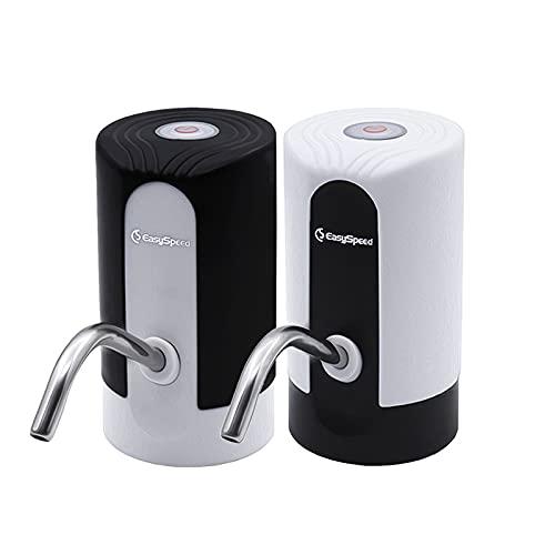EASYSPEED , Pack Dos DISPENSADORES DE Agua SIN LUZ Color Negro Y Blanco, Pack DE 2 ,hasta 20 litros. (Pack 2 SIN LUZ Blanco Y Negro)