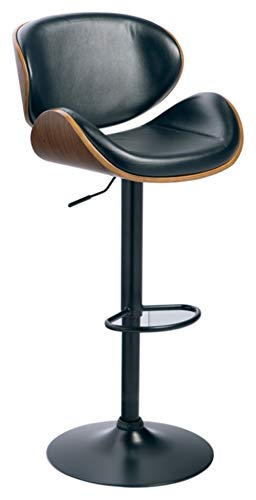 Signature Design By Ashley - Bellatier Tall Upholstered Swivel Barstool - Contemporary Style - Black/Brown
