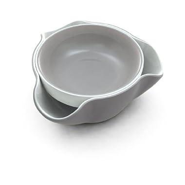 Joseph Joseph DDWGR010GB Double Dish Pistachio Bowl and Snack Serving Bowl, Gray