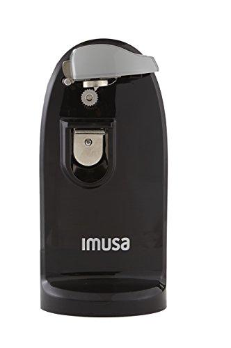 IMUSA USA Abridor de latas eléctrico con abridor de botellas y afilador de cuchillos, Negro, 1