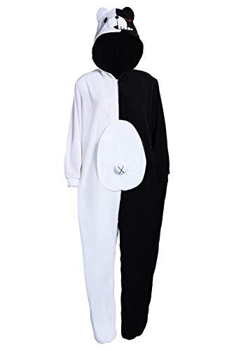SWEETYSTORE Adult Monokuma Bear Onesie Pajamas Anime Jumpsuit Danganronpa Cosplay Costume Unisex (L, Female)
