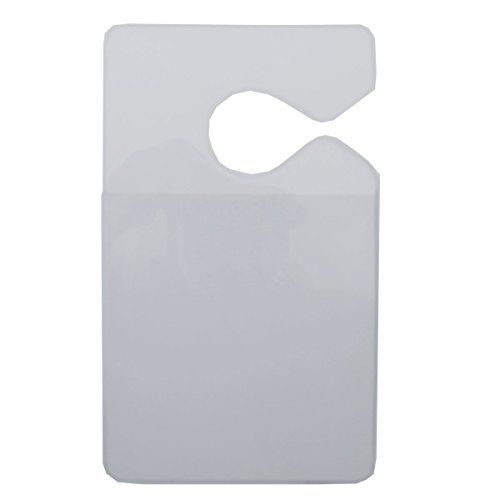 Clear Parking Permit Holder - Durable Vertical Parking Lot Pass Rear View Mirror Hanger - for Small Stickers and Passes - for Car or Truck by Specialist ID, 1 Sold Individually Photo #2