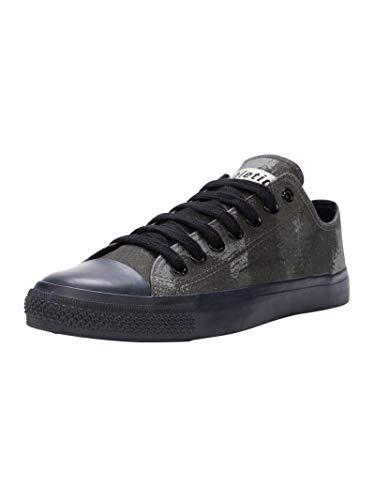 Ethletic Unisex Sneaker Lo Fair Trainer Black Cap Dove camo Olive | Jet Black 42 Fair | Vegan | Nachhaltig
