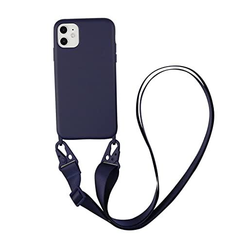 DSMYYXGS Cinturino for Catena Cordino Collana Custodia for Cellulare for iPhone 13 PRO Max 7 8 Plus XR X XS SE 2020 Copertura della Corda Libera Mani (Color : 5, Material : for 13 PRO Max)
