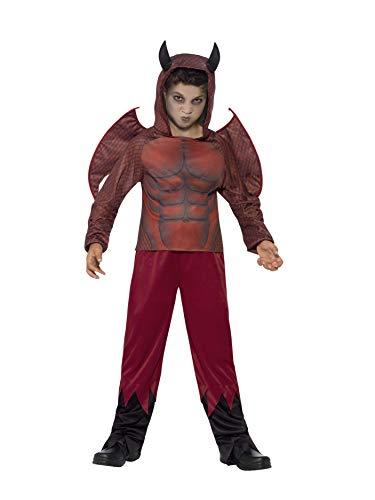 Halloween! Smiffys Kostüm Teufelchen Deluxe, mit Oberteil, Hose und Flügeln, Wärmetransferdruck