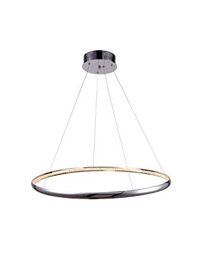 KOSILUM - Suspension LED prestige design D80 cm - Saturne - Lumière Blanc Chaud Eclairage Salon Chambre Cuisine Couloir - 30W - 1800 lm - LED intégrée - IP20