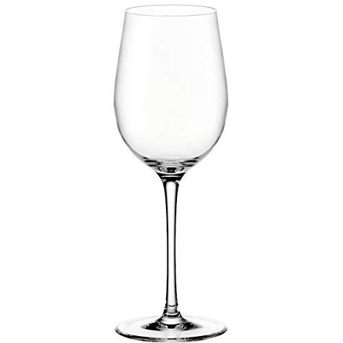 Leonardo Ciao+ Weißwein-Glas, Weißwein-Kelch mit gezogenem Stiel, spülmaschinenfeste Wein-Gläser, 6er Set, groß, 370 ml, 061447