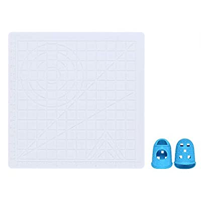 Silicone 3D Printing Pen Mat, LeTang Multi-Shaped Art Craft 3D Printing Pen Drawing & Designing Pad with 2 Silicone Finger Caps, Basic Template for Kid, Adult, 3D Beginners (Translucent)