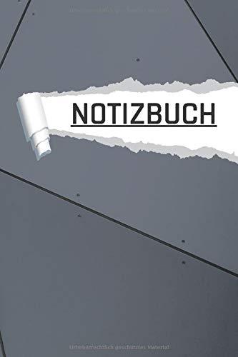 NOTIZBUCH: Modern Stahl Motiv liniert I DIN-A5 I 120 Seiten in Cremefarben I Journal