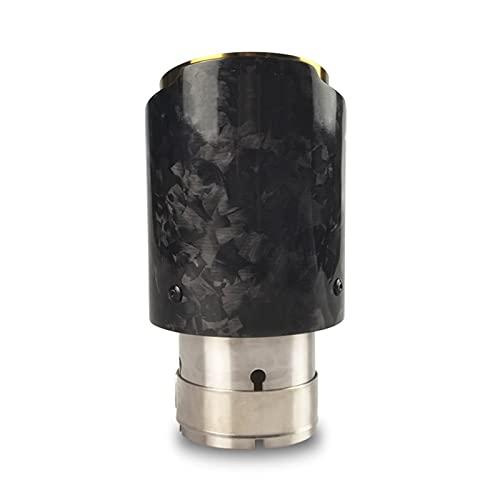 SHGUANMO 1 Unids Coche Universal Borde Recto Fijado Forjado Fijado Fijado De Agua Silenciador Tip Tip Pipe con Golden Interior (Color : In60mm out101mm)