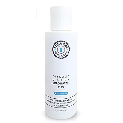 Glycolic Acid Peel 7.5% AHA Exfoliator - Daily Glycolic Acid Toner