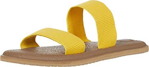 Sanuk Yoga Gora, Sandale Femme, Tige dorée, 35.5 EU
