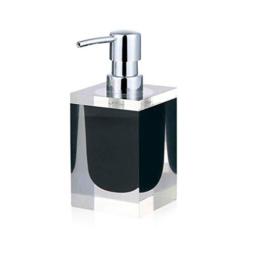 WGGTX Dispensador de jabón para Ducha Botella Europea desinfectante de la Mano de Resina Loción Botella de jabón Botella de loción dispensador de jabón de baño del Hotel Hotel, Aseo (Color : Black)