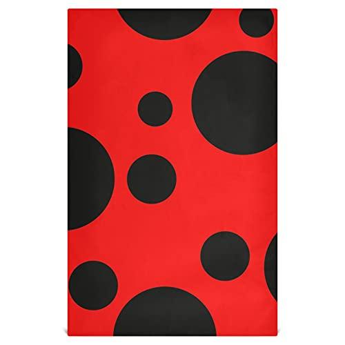 Naanle Ladybug - Juego de 6 paños de cocina con estampado de animales, reutilizables, absorbentes, de secado rápido, toallas de mano, toallas de té, toallas de bar, para el hogar 71 x 45 cm