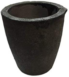 #4 8KG MegaCast, Foundry Clay Graphite Crucibles Black Cup Furnace Torch Melting Casting Refining Gold Silver Copper Brass Aluminum