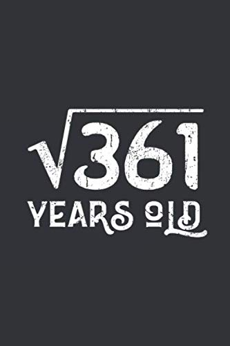 Pitmaster's Log Book and BBQ Cooking Journal: Square Root of 361: 19 Years Old 19th Birthday | Take...